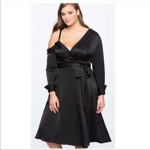 Eloquii Black Satin Dress